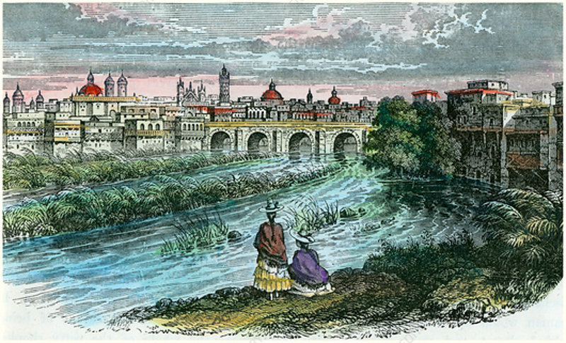 Lima, Peru, from the River Rimac, c1875