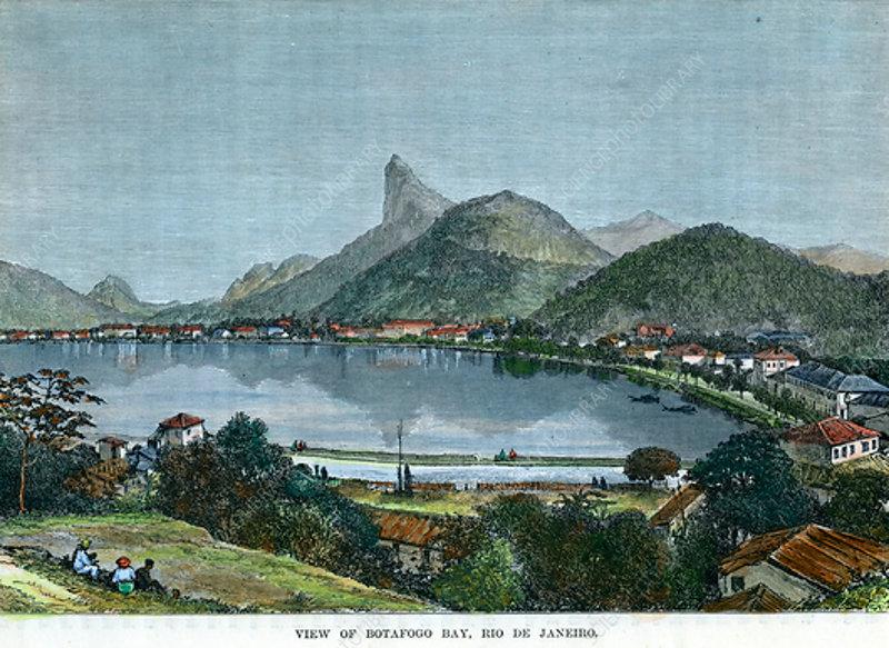 View of Botafogo Bay, Rio de Janeiro, Brazil, c1880