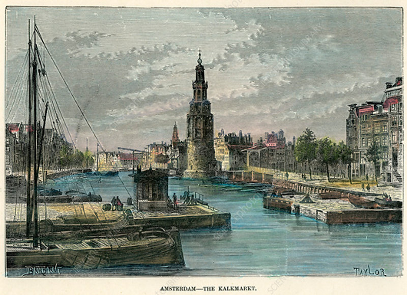 The Kalkmarkt, Amsterdam, Netherlands, c1880