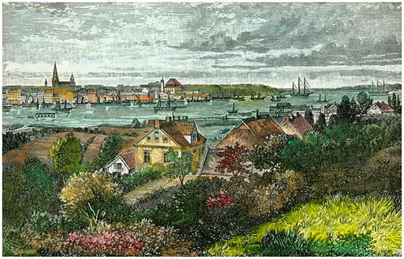 Kiel, Germany, c1875