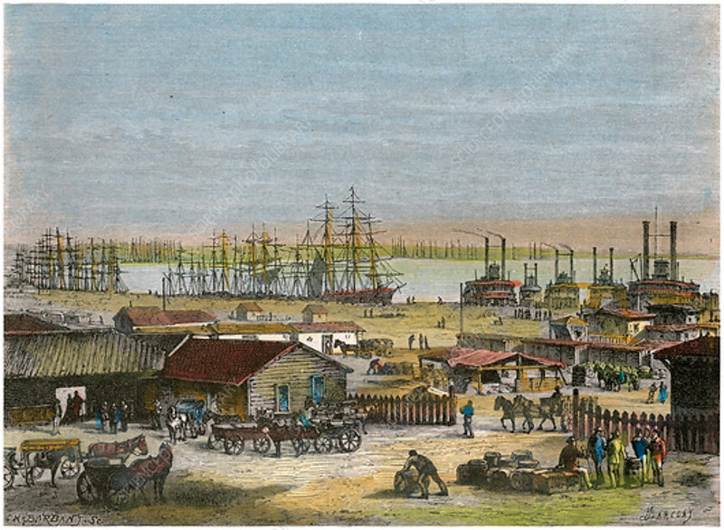 Mississippi River, New Orleans, Louisiana, USA, c1880