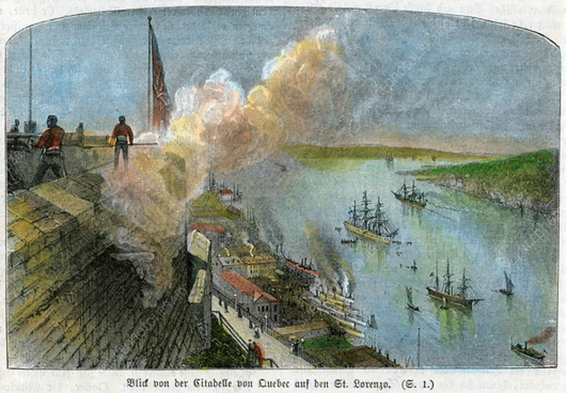St Lawrence River from the citadel of Quebec, Canada, c1875