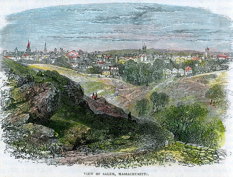 View of Salem, Massachusetts, USA, c1860