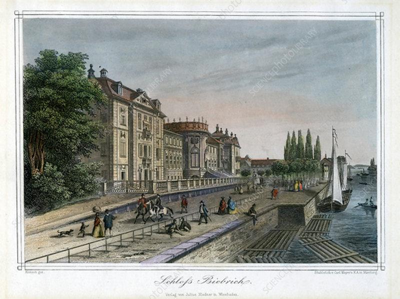 Biebrich Palace, Wiesbaden, Germany, c1820