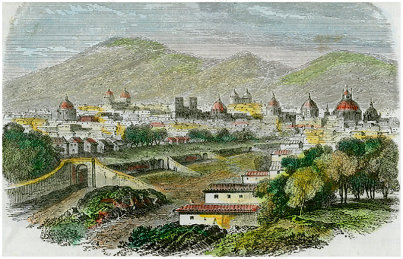 View of the city of Cuzco, Peru, c1875