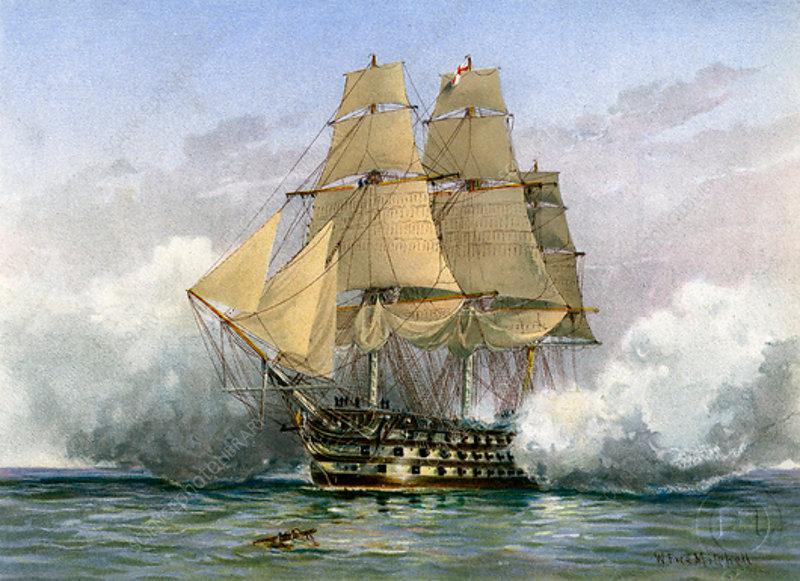 HMS 'Victory, British warship, c1890-c1893