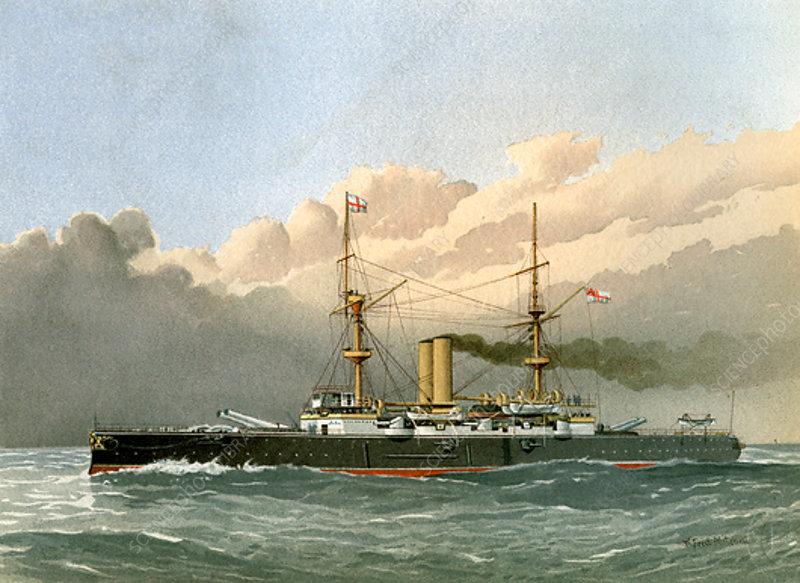 HMS Royal Sovereign 1st class battleship, c1890-c1893