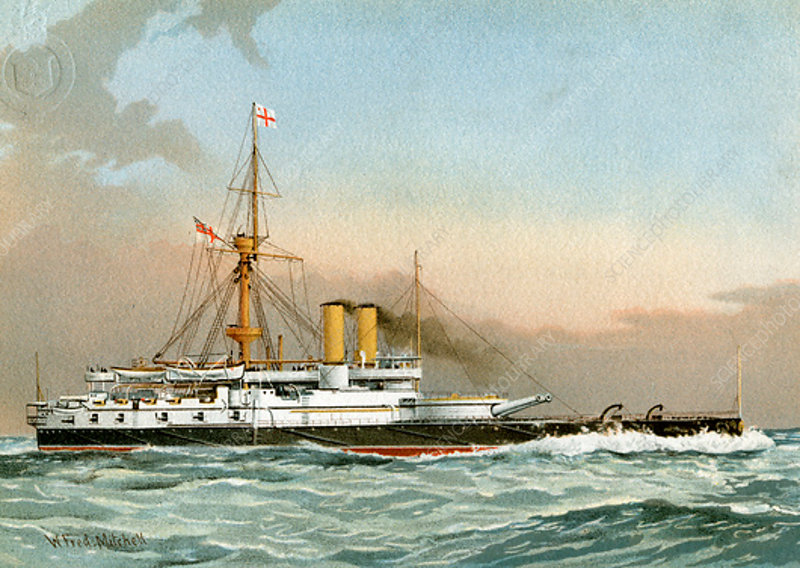 HMS 'Victoria, Royal Navy 1st class battleship, c1890-c1893