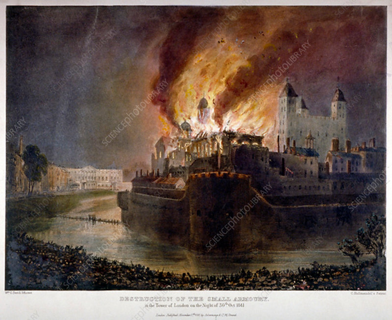 Fire in the Tower of London, 30 October 1841