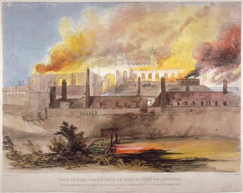 Fire at the Armoury in the Tower of London, 30 October 1841