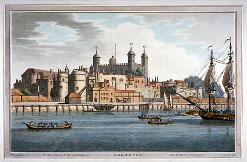 South view of the Tower of London, 1795