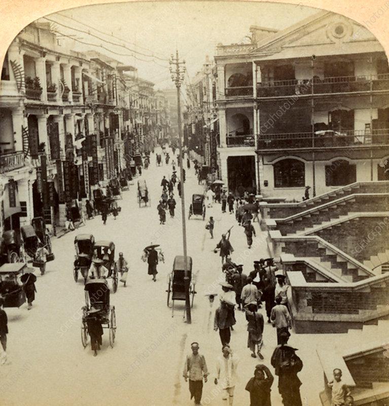 Queen Street, Hong Kong, China, 1896