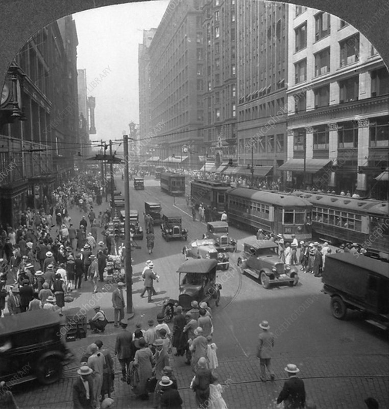 State Street, Chicago, Illinois, USA, early 20th century