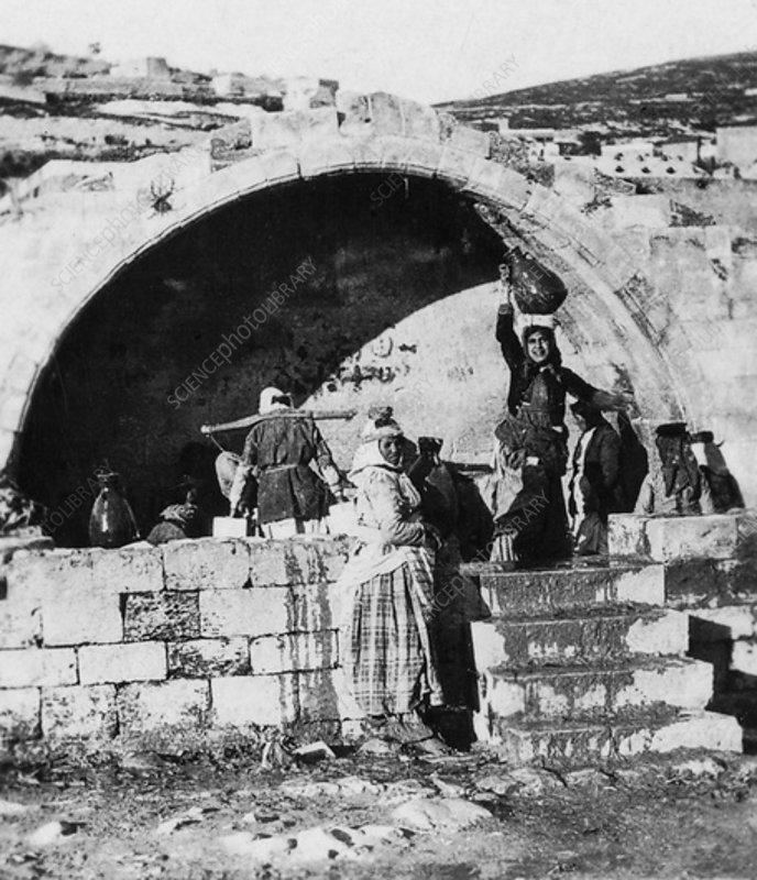 Fountain of the Virgin, Nazareth, Palestine, c1927-c1931