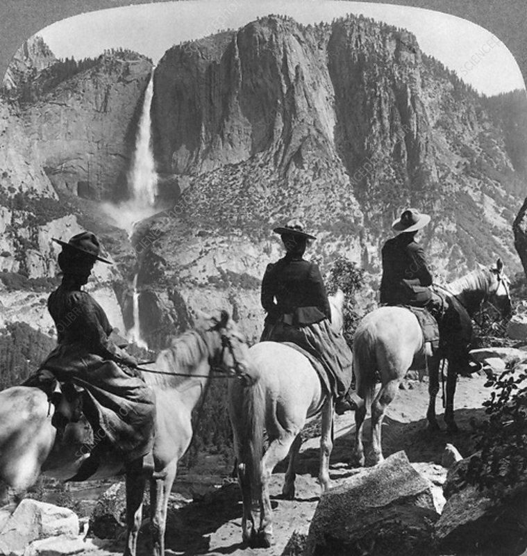 Yosemite Falls, Yosemite Valley, California, USA, 1901