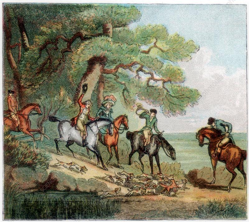 The kill, fox hunting, 1787