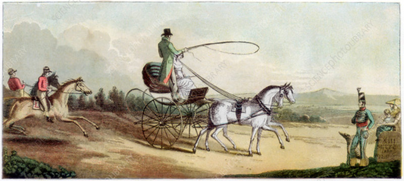 The Prince Regent driving Mrs Q on the road to Brighton