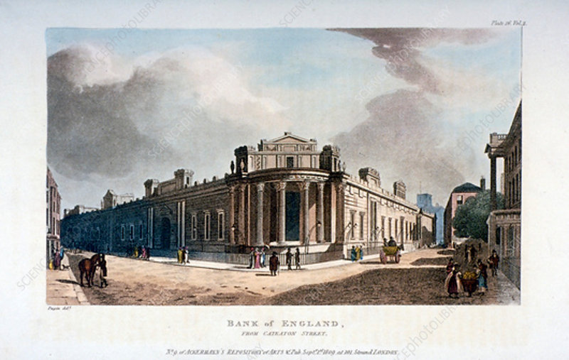 The Bank of England, City of London, 1809