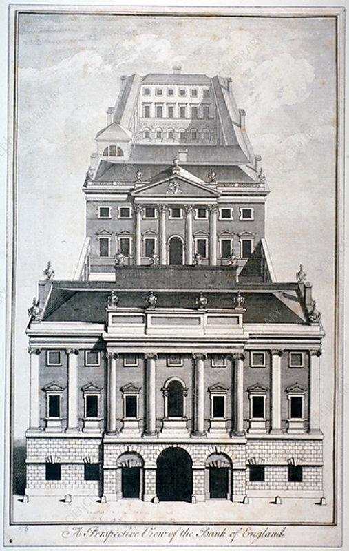 Bank of England, City of London, c1750