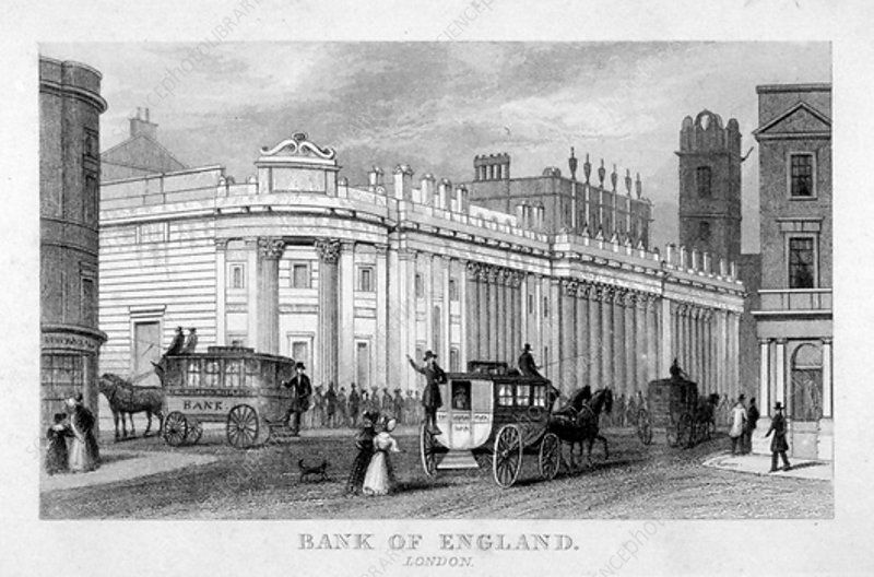 The Bank of England, City of London, c1830