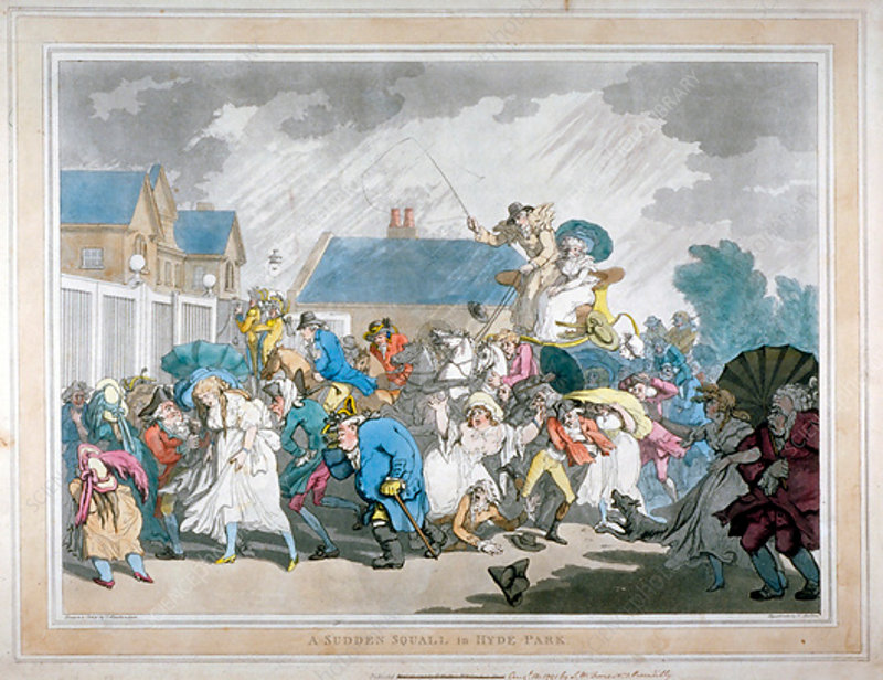 A Sudden Squall in Hyde Park, London, 1791
