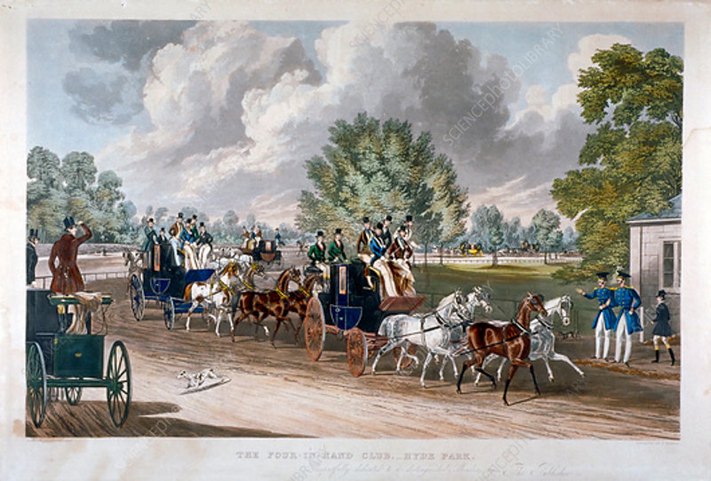 The Four-in-Hand Club, Hyde Park, London, 1838