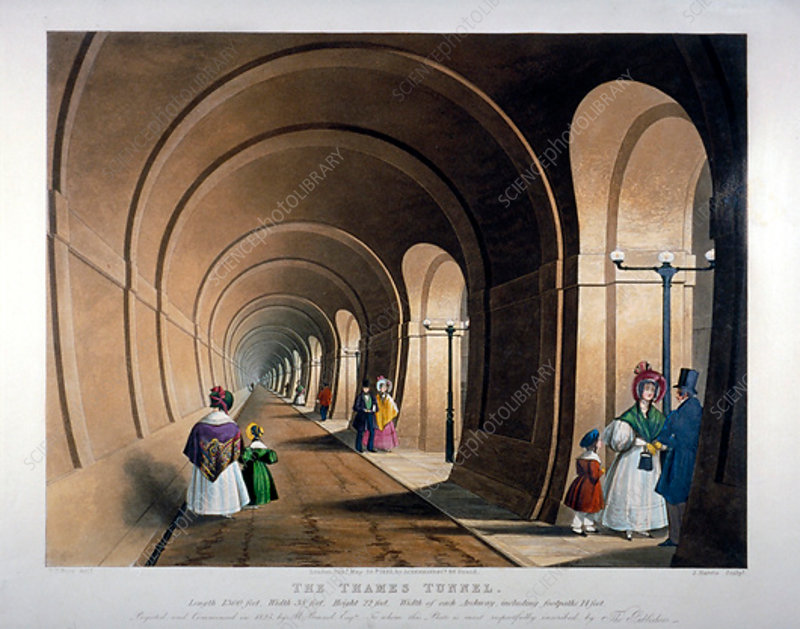 Thames Tunnel, London, 1835