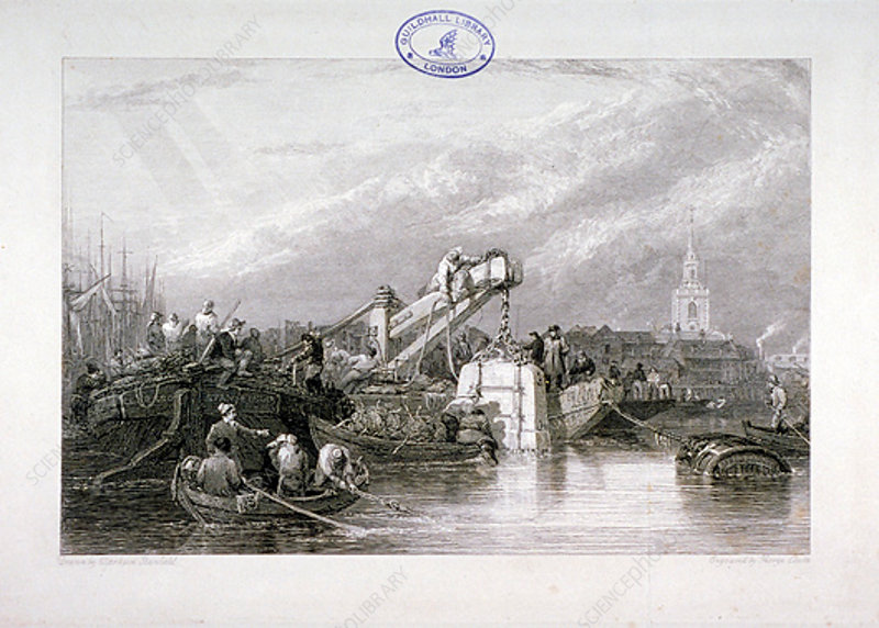 Construction of the Thames Tunnel, London, 1827