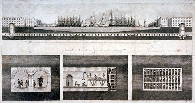 Thames Tunnel, London, 1827