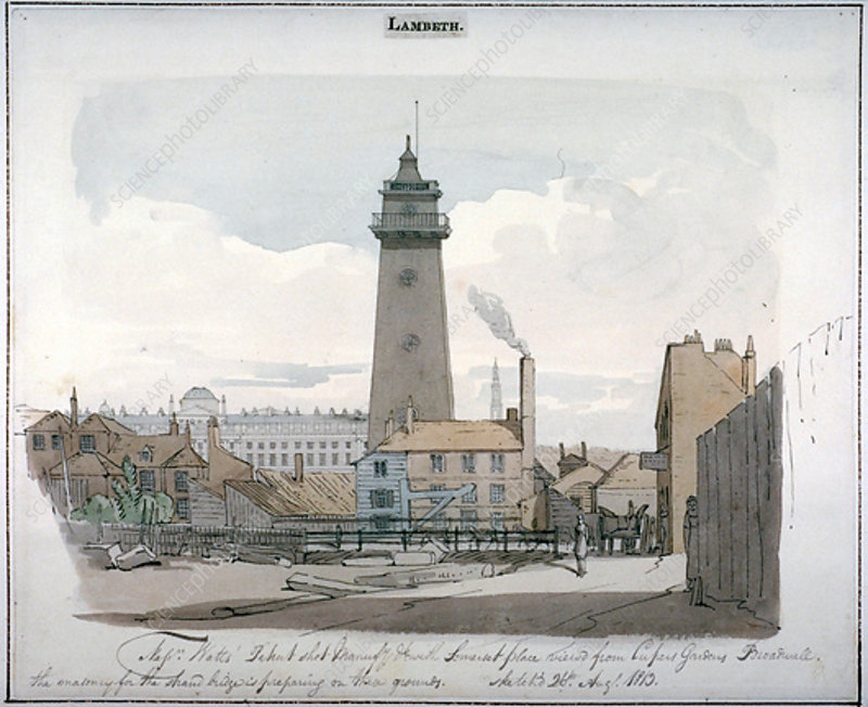 Watt's Shot Tower, Lambeth, London, 1813