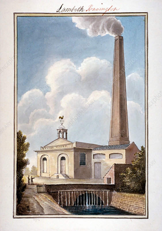 New London Waterworks, Vauxhall, Lambeth, London, 1825