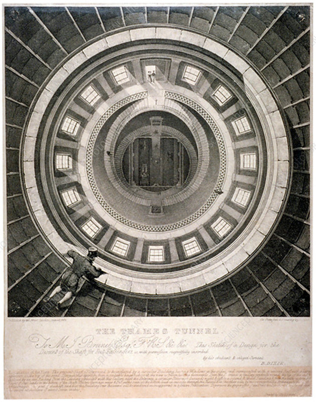 Shaft to the entrance of the Thames Tunnel, London, 1831