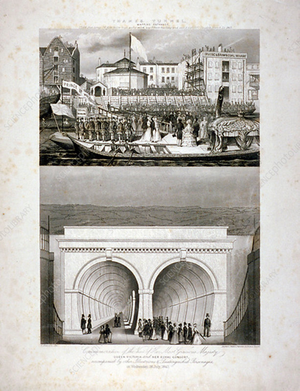 Thames Tunnel, London, 1843