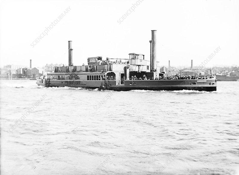 Ferry 'Gordon' on the Thames, London, c1905
