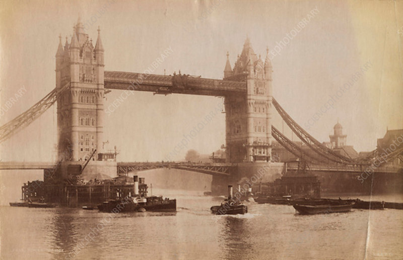 Tower Bridge, London, c1907