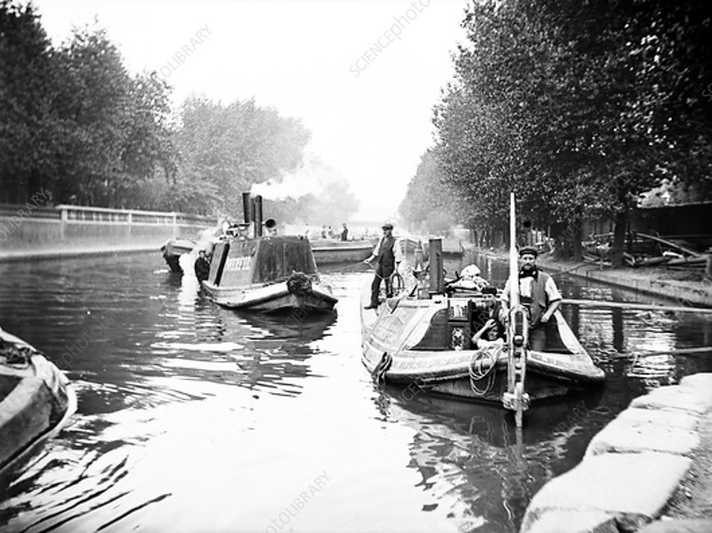 Boats on Regent's Canal, London, c1905