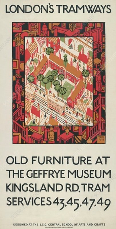 Old Furniture At The Geffrye Museum, poster, 1924