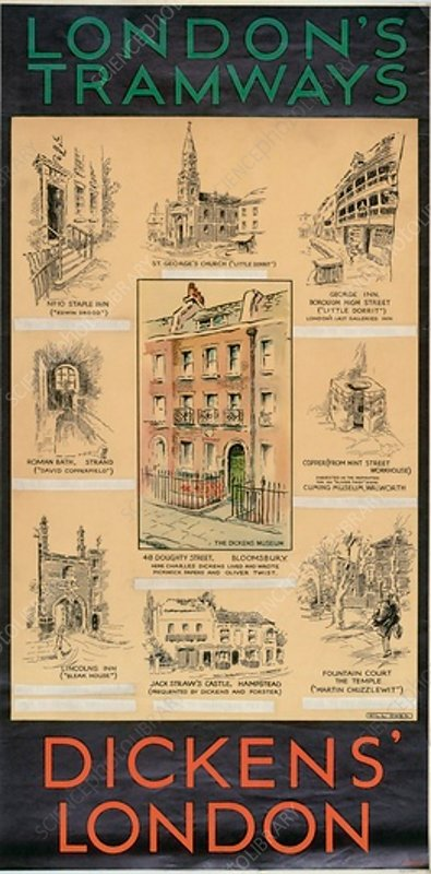 Dickens' London, London County Council Tramways poster