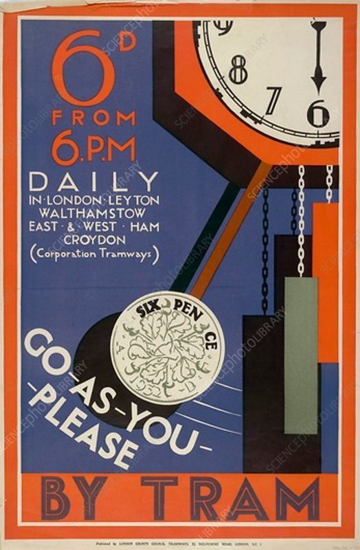 London County Council Tramways poster, 1933