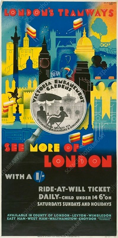 See More of London with a Shilling, poster, 1933