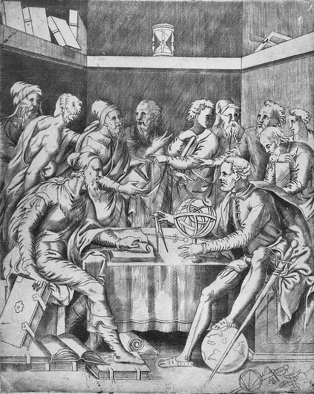 Agrippa Instructing His Pupils Mathematically, 1553