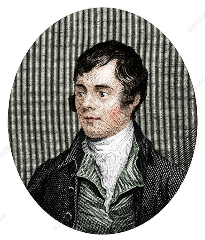 Robert Burns, Scottish poet, 1877