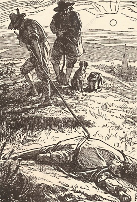 Illustration from 'History of the Plague, 1862