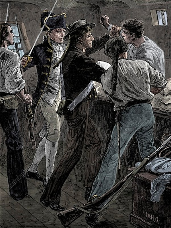 Mutiny of the crew of the 'Bounty, 1789