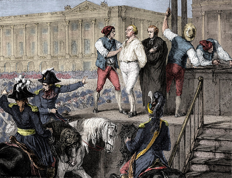 Execution of Louis XVI of France, Paris, 21st January 1793