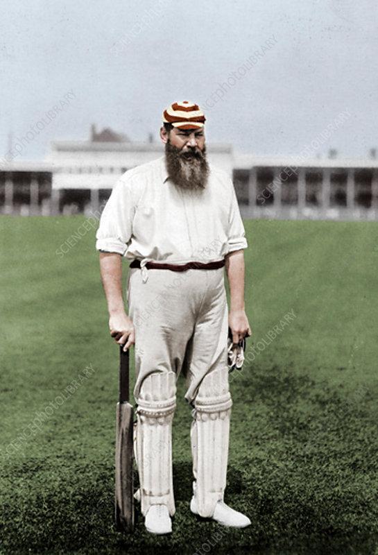 WG Grace, English cricketer, c1899