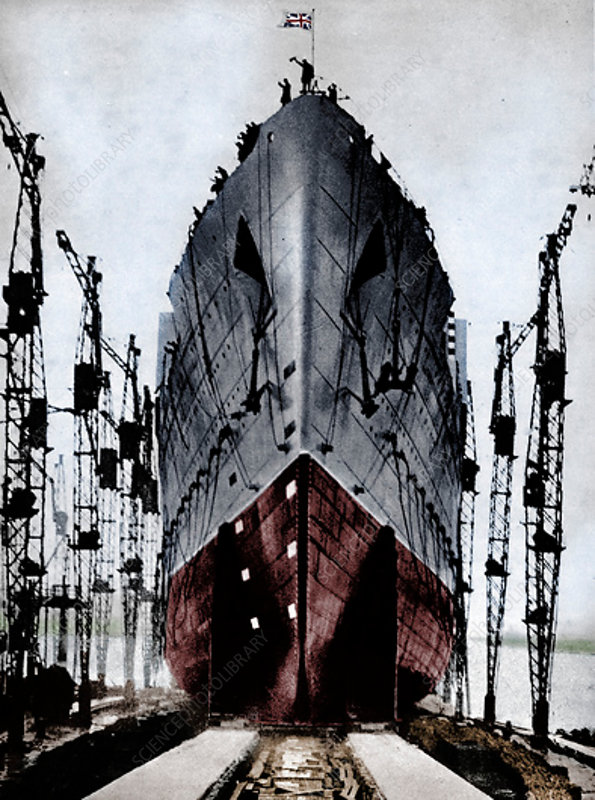 Launch of the Cunard ocean liner `Queen Mary`, 1934