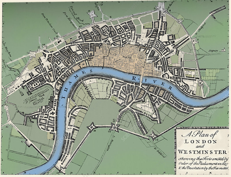 Plan of London and Westminster, 1749