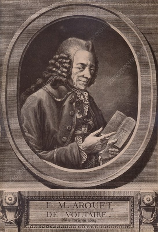 Voltaire, French writer and philosopher, c18th century