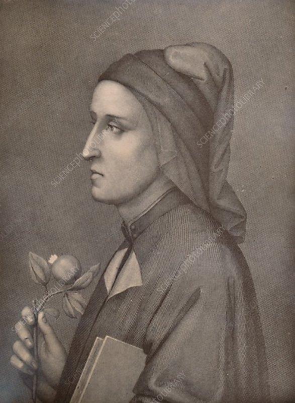 Dante Alighieri, Italian poet, 19th century